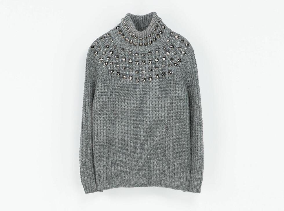 Høyhalset genser (kr 700, Zara). Foto: Produsenten