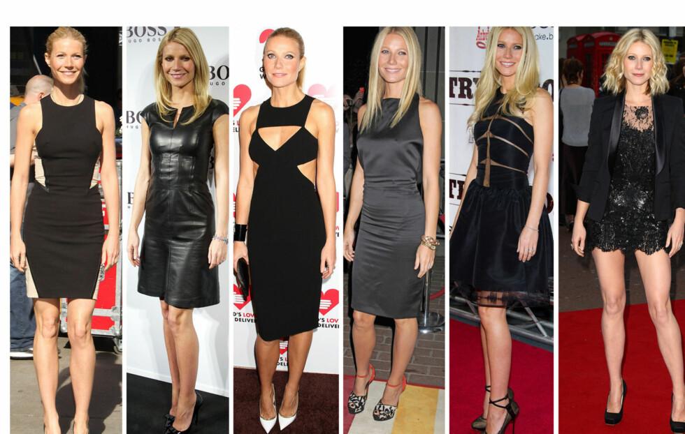 I DEN LILLE SORTE: Ifølge Gwyneth Paltrows stylist - Elizabeth Saltzman, elsker skuespillerinnen sorte kjoler - og bruker det ofte. Foto: All Over Press