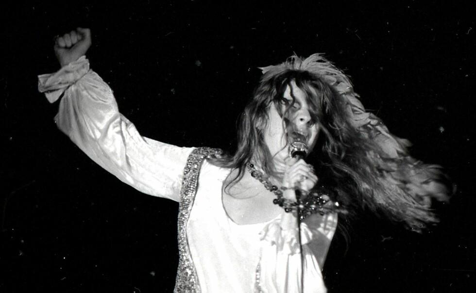 JANIS JOPLIN: Artisten døde av en overdose heroin i 1970.  Foto: Chuck Pulin/ Splash News/ All Over Press