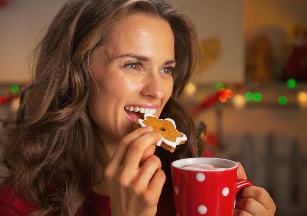 FRÅTSING I JULA?: Spist mye pepperkaker, drukket mye gløgg, kakao og proppet i deg sjokolade? Da er det ikke så rart om du har litt sukkerabstinenser.  Foto: Alliance - Fotolia