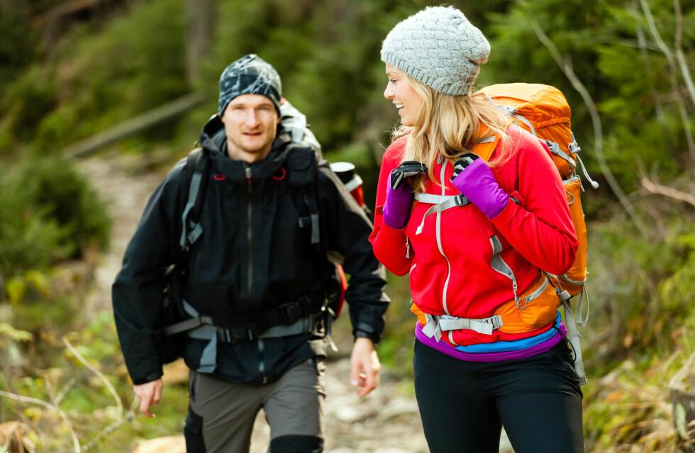 TA MED DEG EN SEKK: Med en sekk på ryggen kan du få enda mer effekt ut av gåture.  Foto: blas - Fotolia