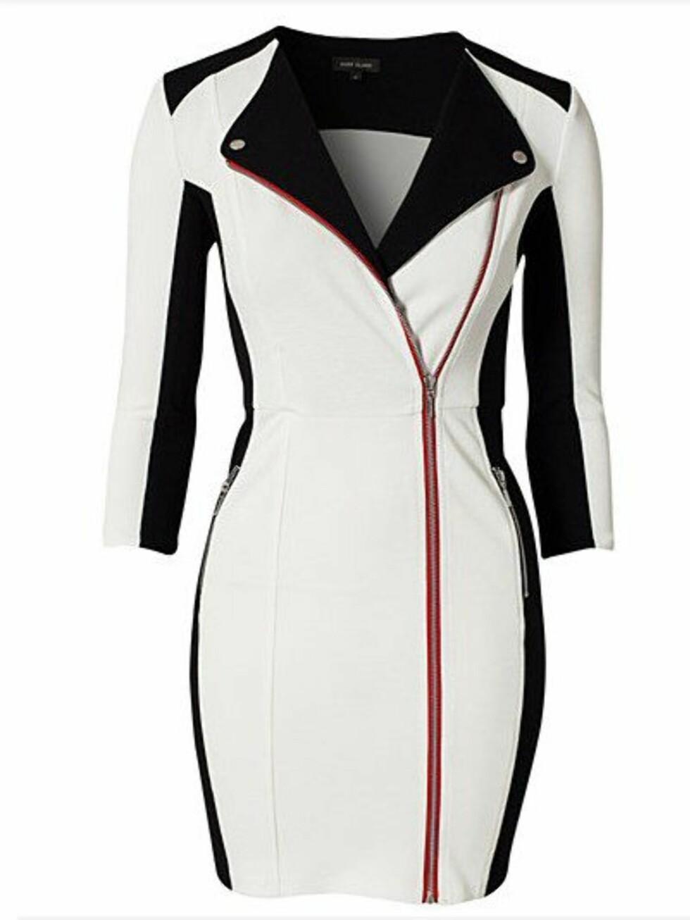 Stilig jakkeinspirert kjole fra River Islan. 449 kroner, Nelly.com. Foto: Produsenten
