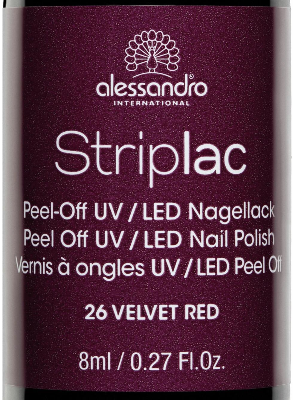 Striplac i fargen Velvet Red, kr 159. Foto: Produsenten
