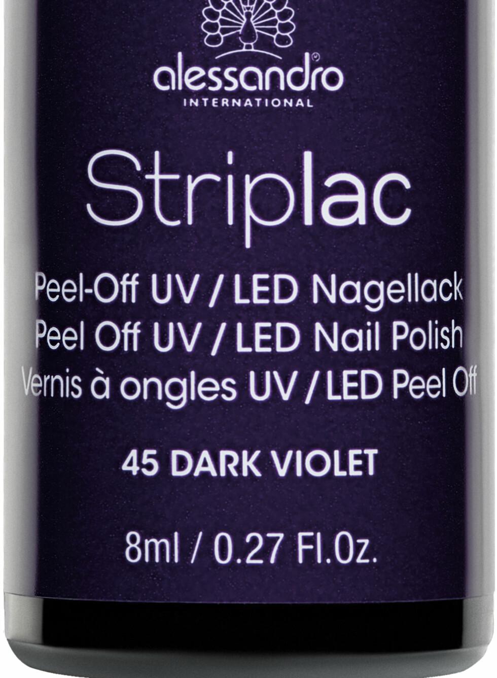 Striplac i fargen Dark Violet, kr 159. Foto: Produsenten