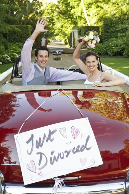 SKILT?: Den lykkelige skilsmissen finnes kanskje ikke, men alle er tjent med et godt forhold og samarbeid. Foto: All Over PressAll Over Press