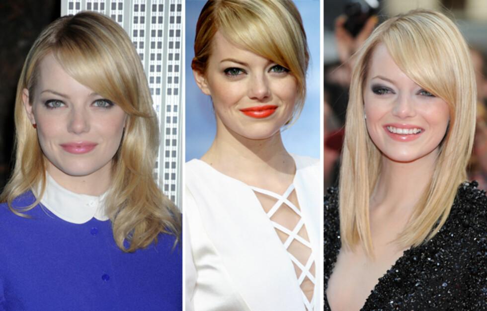 FLOTTE FARGER: Emma Stone liker å variere leppefargen, men holder seg unna helt nude leppestifter.  Foto: All Over Press