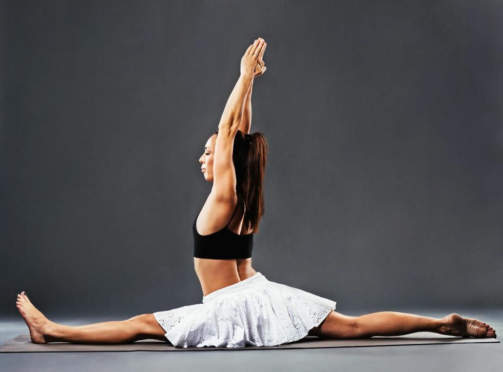SPAGATEN: Er ikke målet med bevegelighetstrening - målet er at du skal få en velfungerende kropp. Foto: Amelia Fox - Fotolia