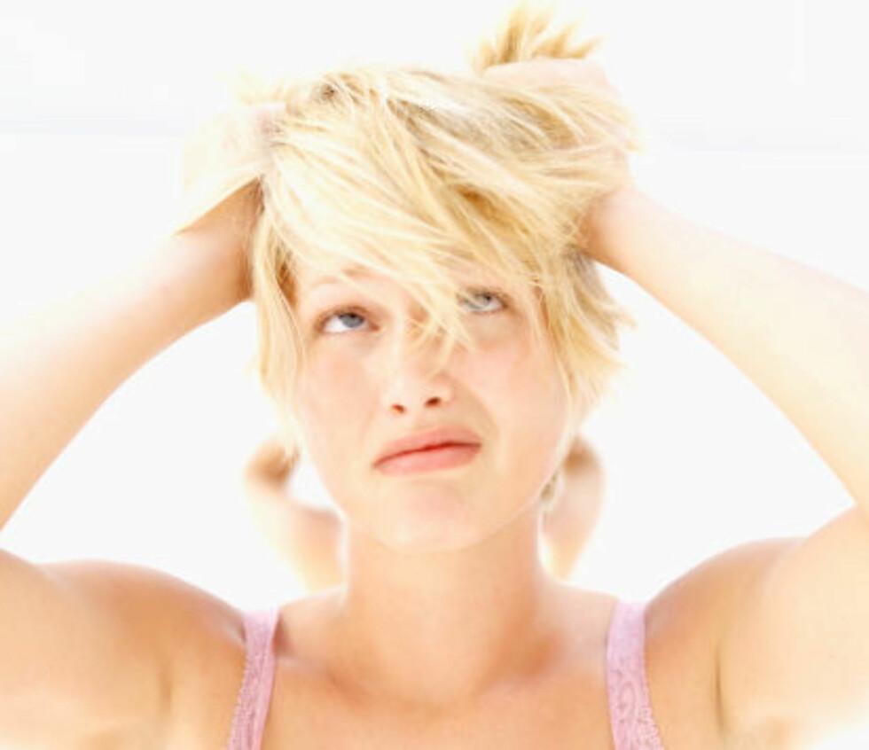 <strong>TØRR HODEBUNN?:</strong> Du kan la være å vaske håret så ofte.  Foto: Getty Images