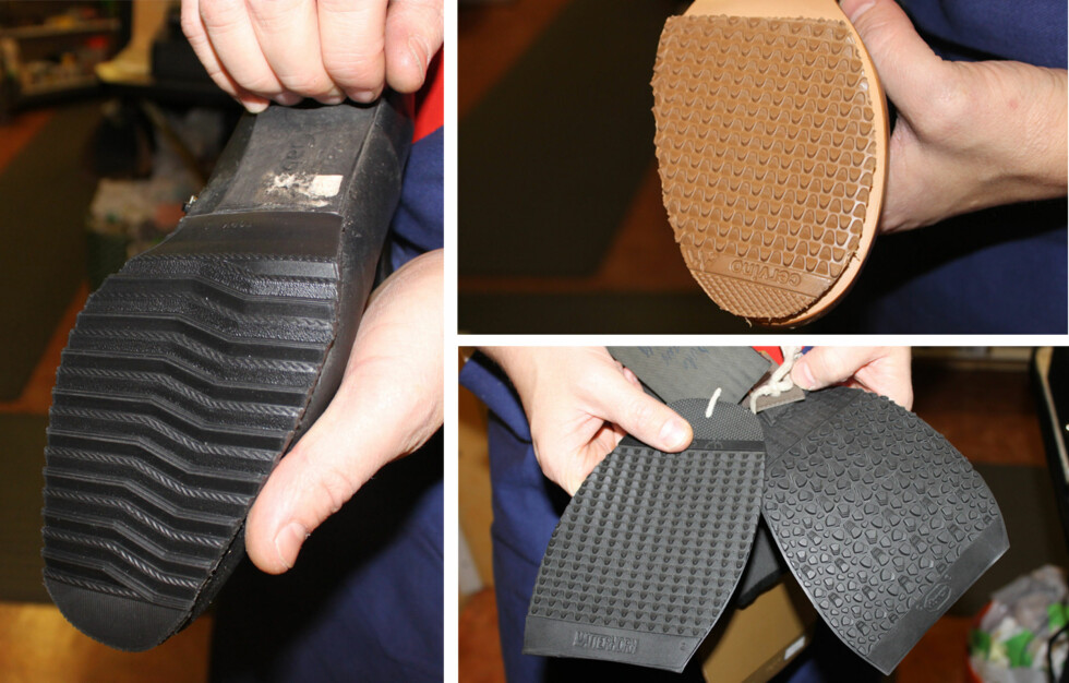 SÅLEN SOM REDER SKOENE: For at du ikke skal gli på glatt føre er det viktig å legge en såle i god gummi - gjerne med mønster - før du bruker dem.  Foto: Tone Ruud Engen