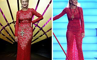 Helen Mirren dukket opp i samme kjole som Rita Ora