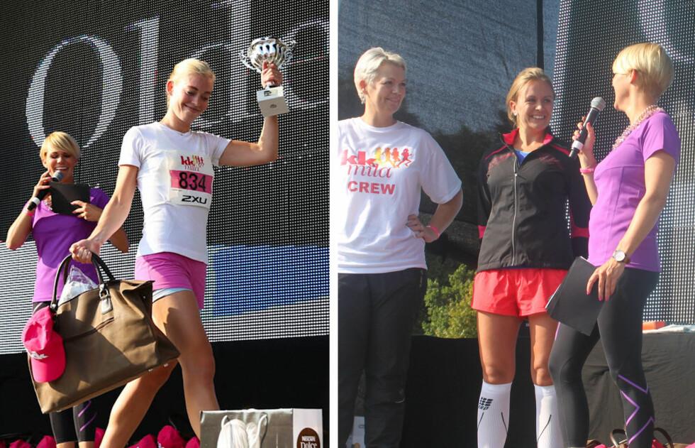 VANT: Cecilie Isern (til venstre) vant årets 10 kilometer, og Hedvig Røssberg Gjerde vant 5 kilometeren.  Foto: Vilde Borse/ A. C. Blystad