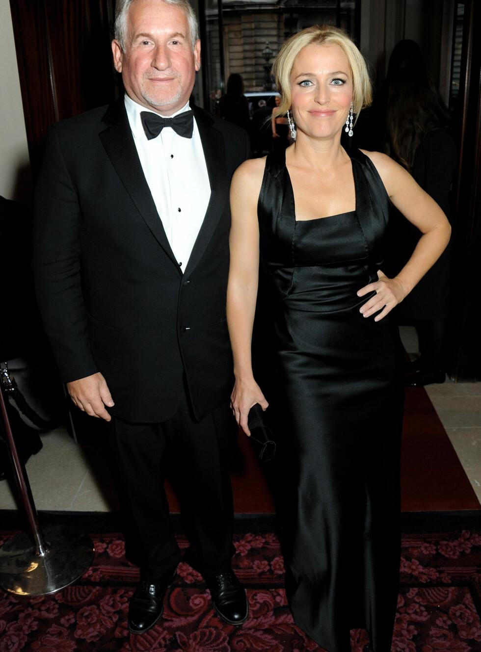 Simon Kelner og Gillian Anderson Foto: Getty Images/Getty Images/All Over Press
