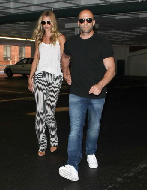"""PAUSE: Denne uken ble det kjent at Rosie og filmstjernekjæresten Jason Statham har tatt en """"pause"""" i forholdet sitt.  Foto: All Over Press"""