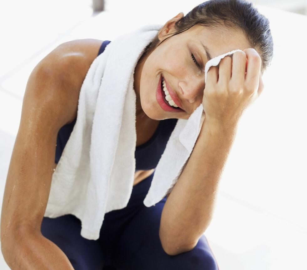 HAR IKKE NOE Å SI PÅ FORMEN: Svettemengden under trening har ikke sammenheng med fysisk form.  Foto: Getty Images
