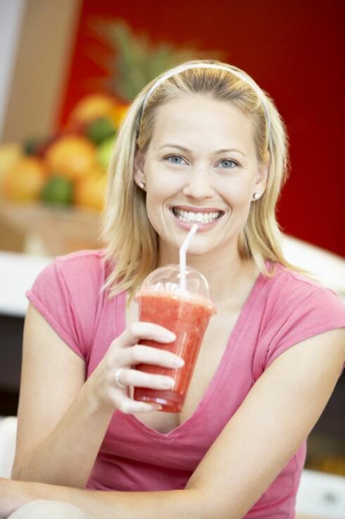 <strong>BRA SOM FROKOST:</strong> Smoothie funker, så lenge du dropper mye av fruktjuicen og reduserer litt på mengden.  Foto: Thinkstock