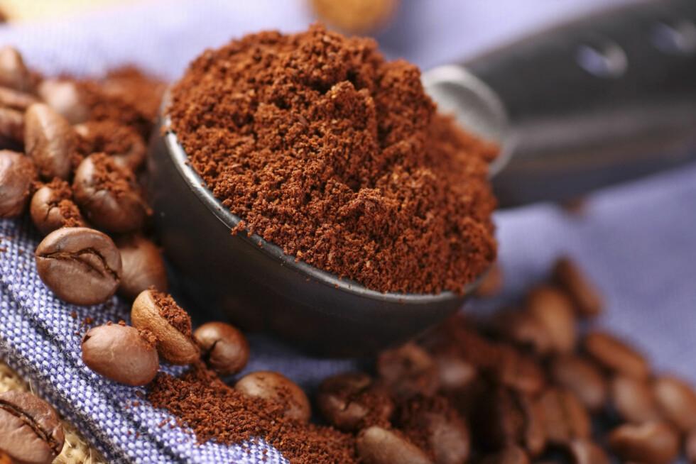 AN BRUKES TIL MYE: Blant annet kan du bruke malt kaffe i både bakevarer og sauser.  Foto: Thinkstock.com