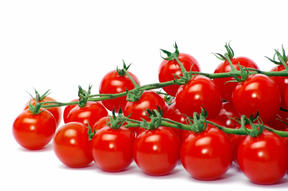 <strong>TOMAT:</strong> Proppfull av antioksidanter som gir huden glød.  Foto: Colourbox