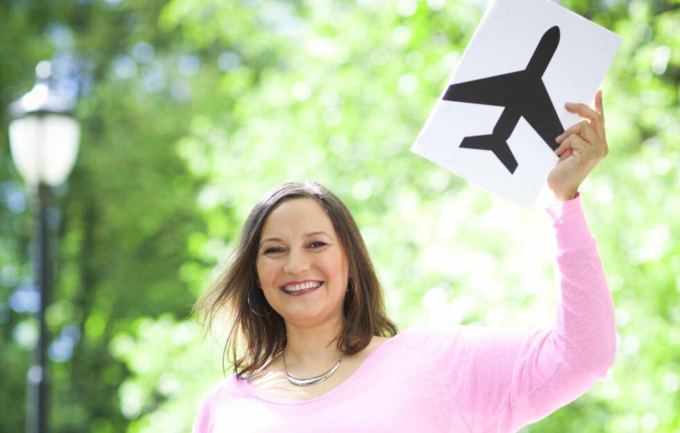 FLYSKREKK: Inger Johanne har flyskrekk, men har lært seg å håndtere fobien.  Foto: Astrid Waller/All Over Press Norway