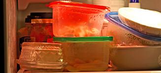Ikke sett varme middagsrester i kjøleskapet