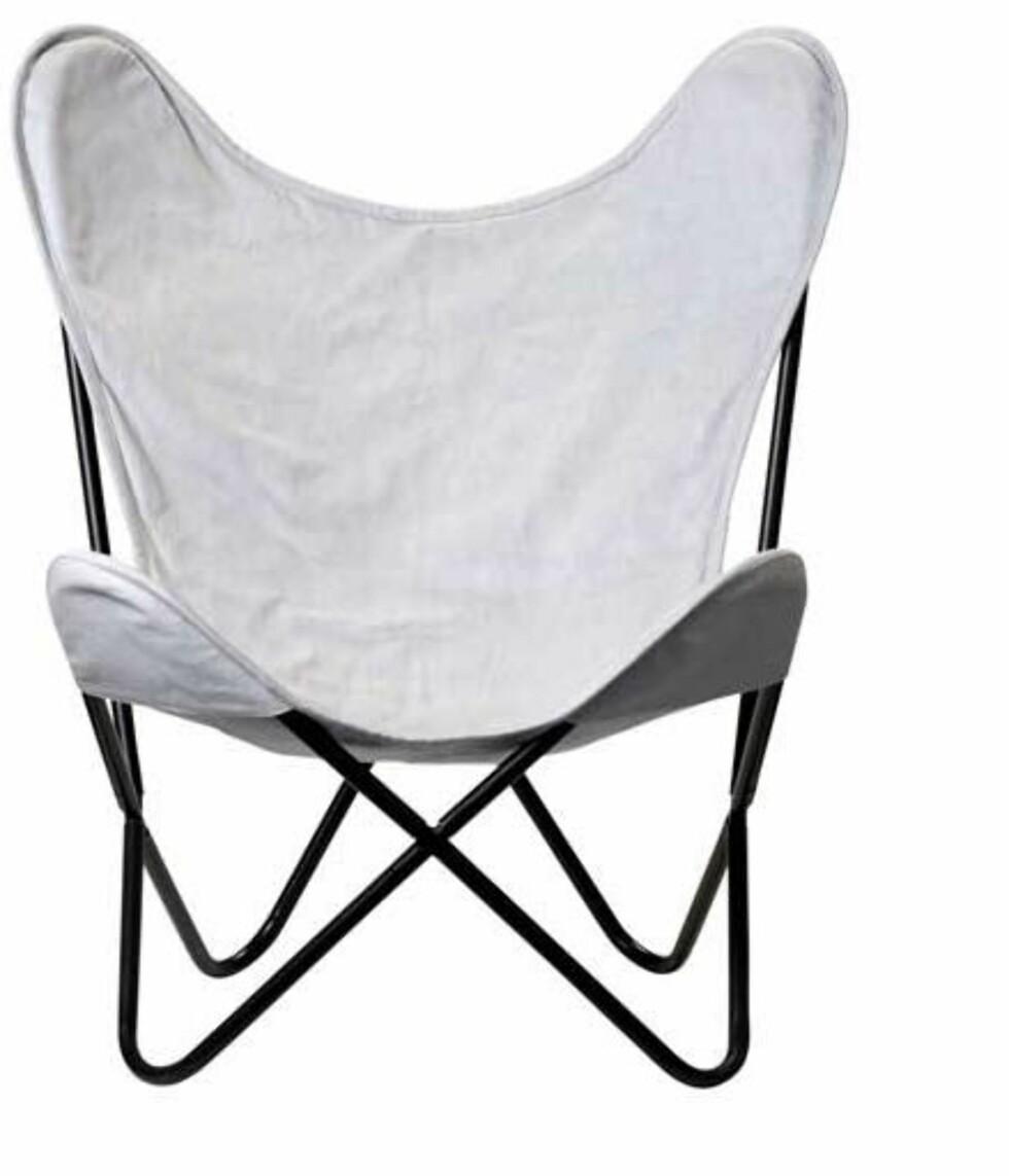 Behagelig stol for sene kvelder (kr 1800, Bloomingville).