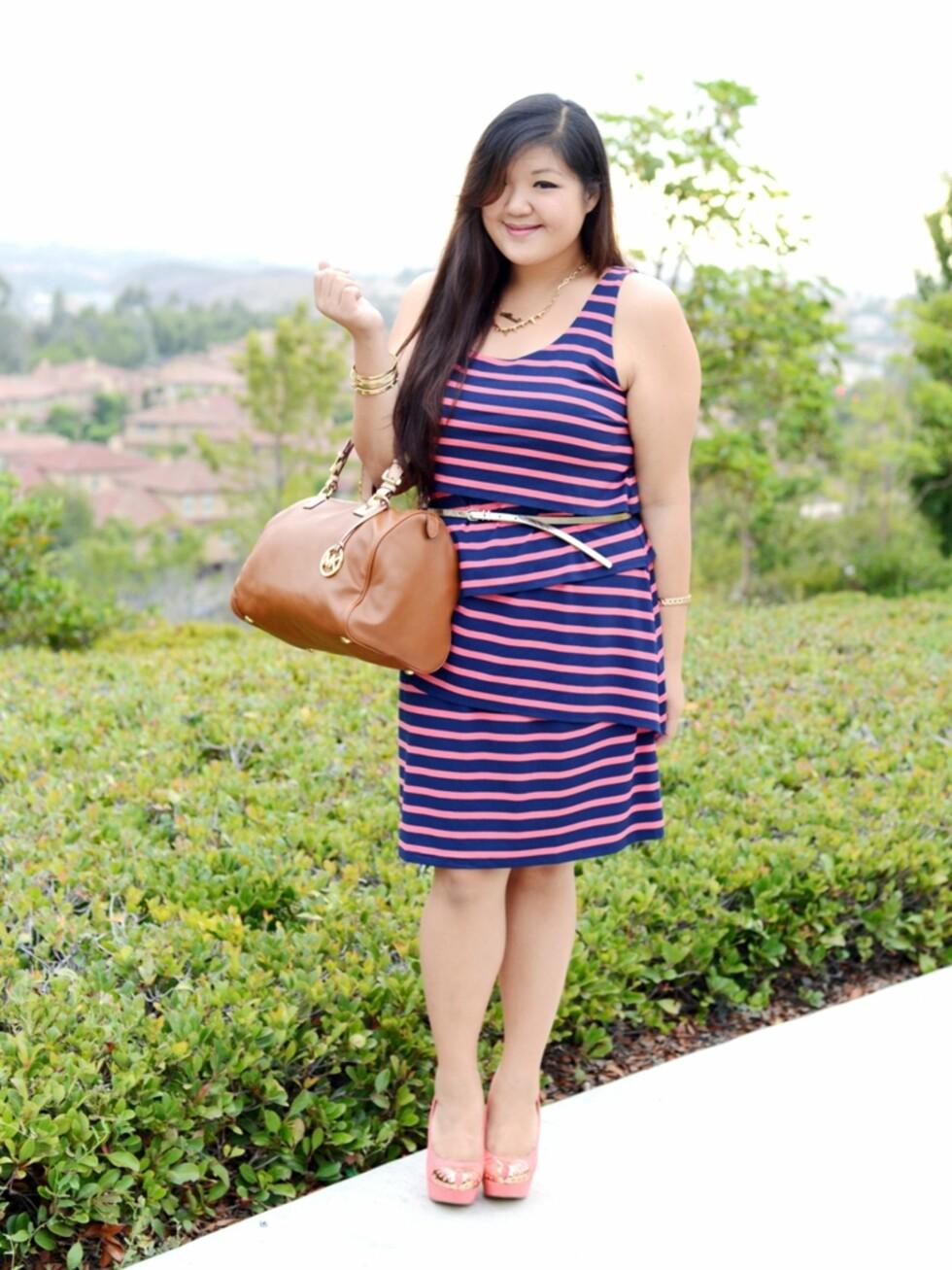 LADYLIKE: Allison liker å kle seg elegant, og elsker fine detaljer som smykker, sko og vesker. Foto: Curvy Girl Chic