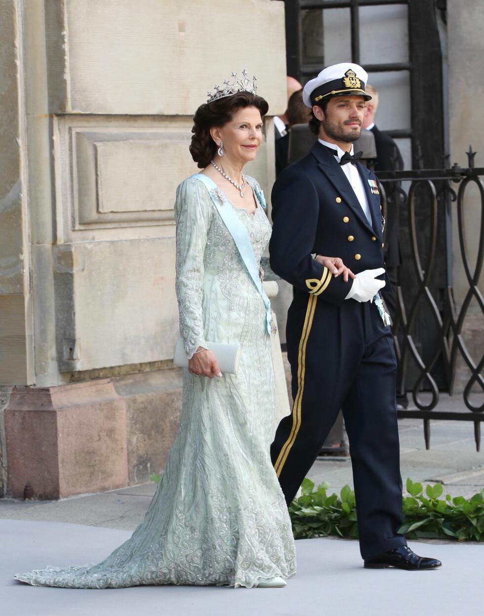 Dronning Silvia og prins Carl Philip. Foto: All Over Press