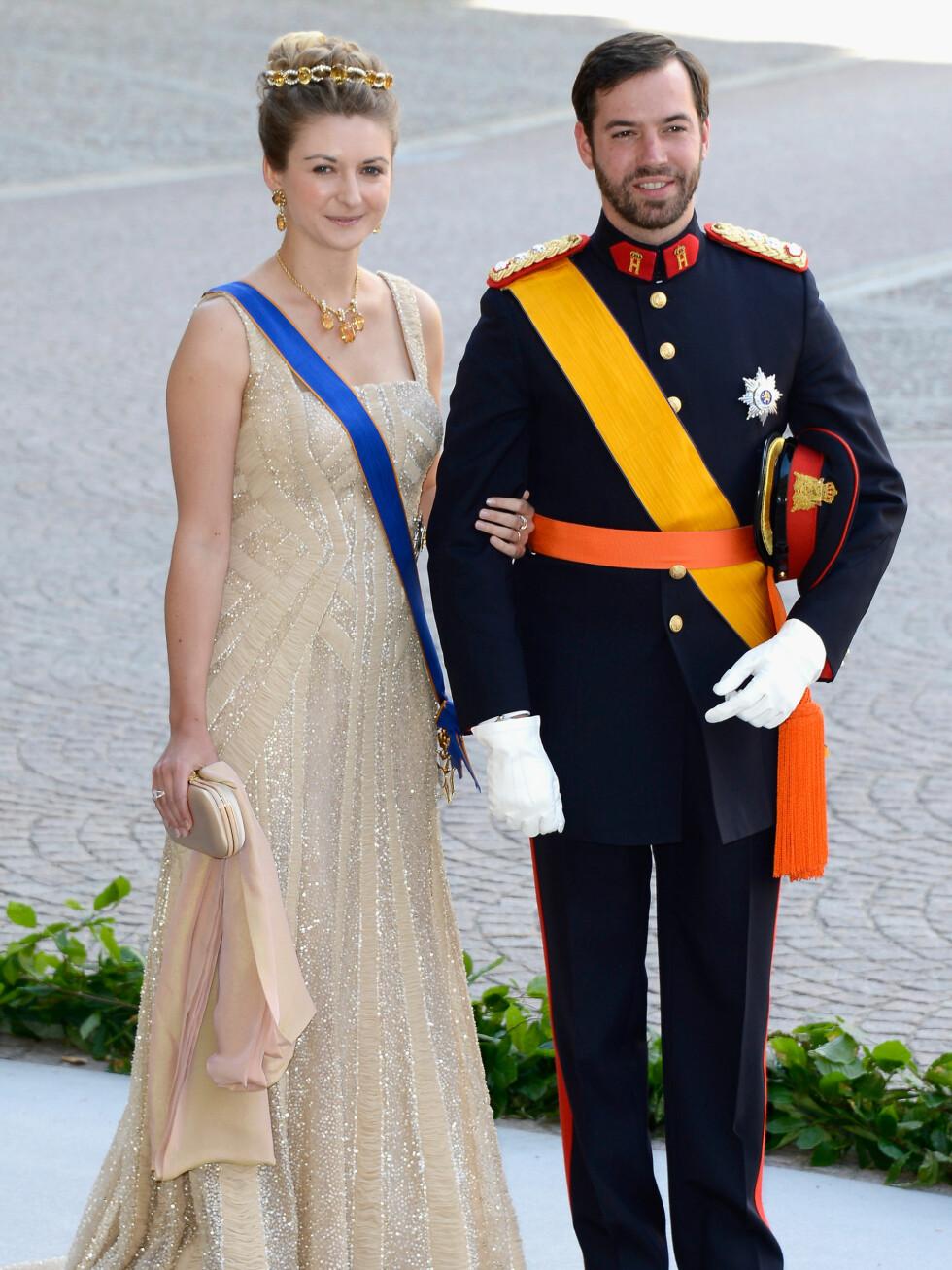 Kronprinsesse Stephanie av Luxembourg og prins Guillaume. Foto: All Over Press