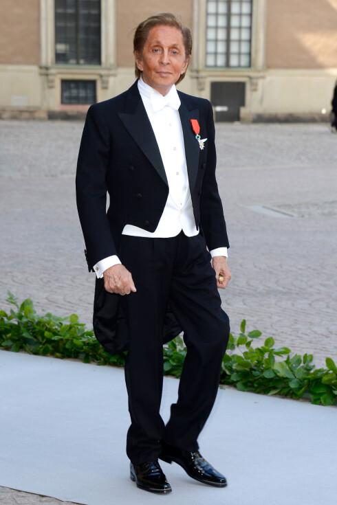 DESIGNEREN BAK KJOLEN: Italienske Valentino var selvskreven gjest i bryllupet.  Foto: All Over Press