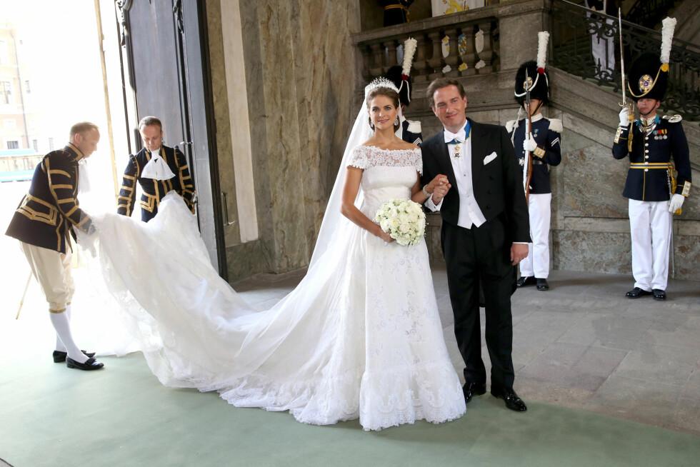 """EVENTYRLIG VAKKER: Silje Pedersen omtaler Madeleines kjole som """"eventyrlig vakker"""" og tror mange bruder vil inspireres av den svenske prinsessen. Foto: All Over Press"""