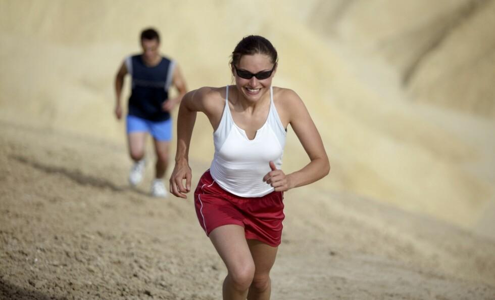 LØP OPPOVER - UNNGÅ SKADER: Det å løpe i motbakker er med på å redusere risikoen for skader.  Foto: Thinkstock