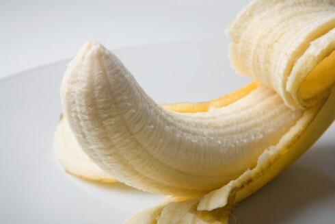 FINT FOR FORMEN: En banan gir deg vktige mineraler du trenger dagen derpå. Foto: Colourbox