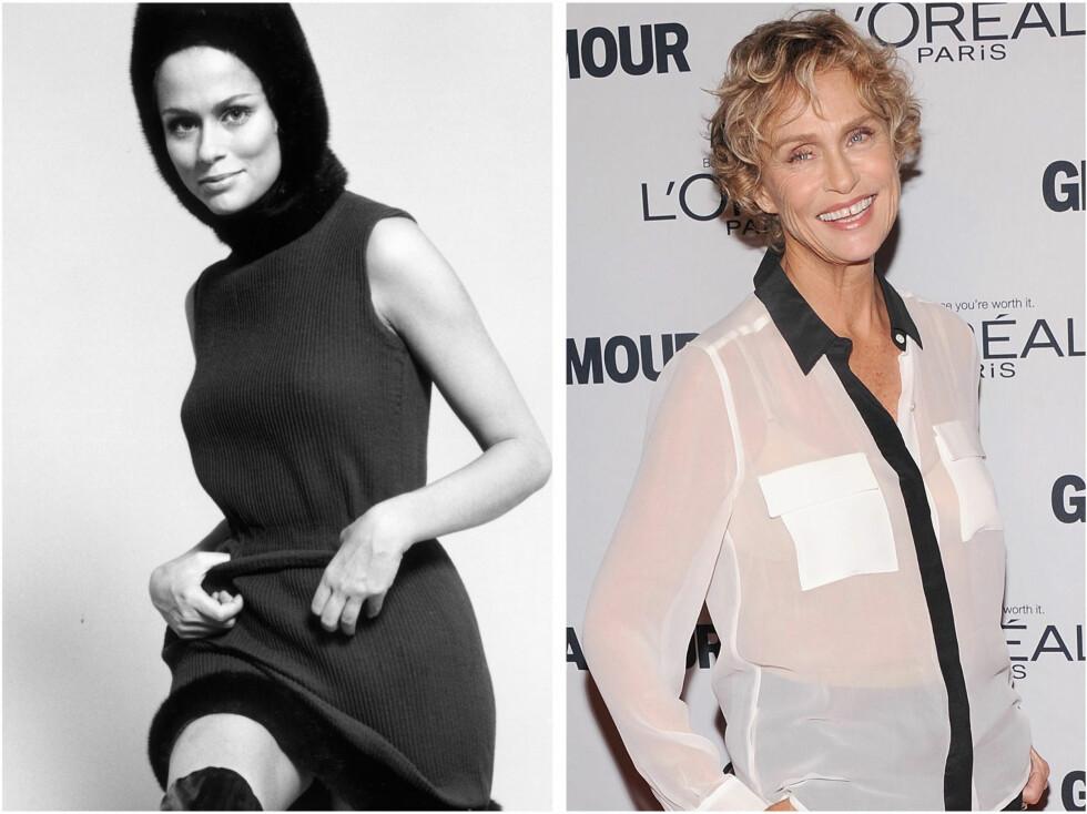 <strong>LAUREN HUTTON:</strong> 69-åringen ser fortsatt like fantastisk ut som hun gjorde i 1972. Foto: All Over Press