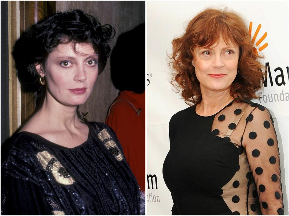 <strong>SUSAN SARANDON:</strong> Susan i 1984 og i 2012. Foto: All Over Press