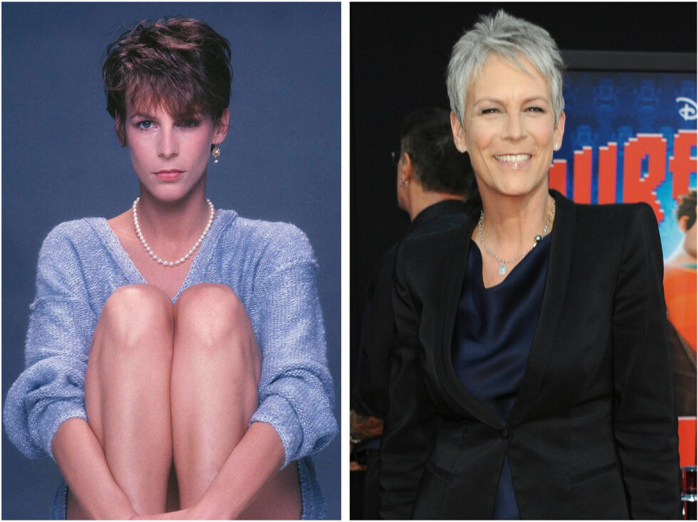 <strong>JAMIE LEE CURTIS:</strong> Jamie i 1985 og i 2012. Foto: All Over Press