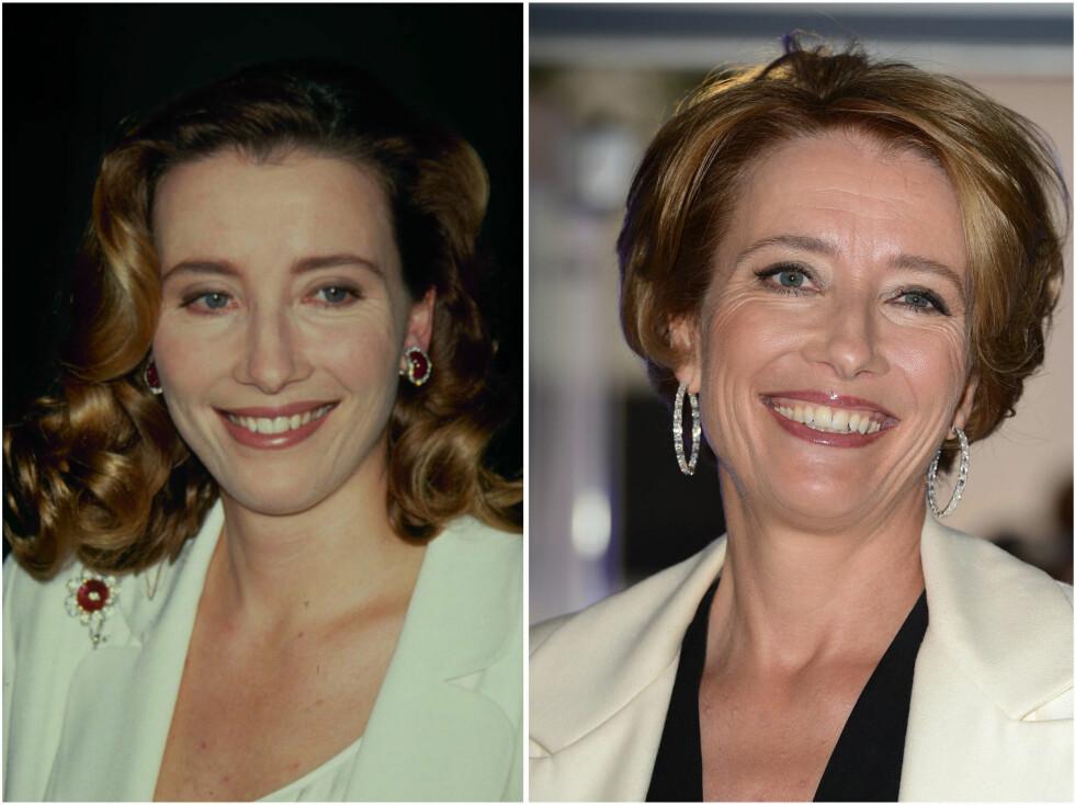 <strong>EMMA THOMPSON:</strong> Emma i 1992 og i 2012. Foto: All Over Press