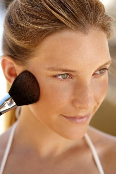 Bruker du solpudder i hele ansiktet?