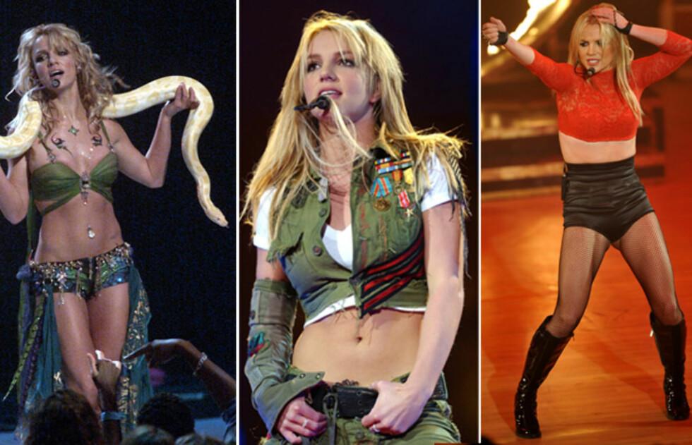 VELTRENT: Britney Spears trener intenst, noe som tidvis har resultert i en svært tynn popstjerne. Her fra hennes storhetstid på begynnelsen av 2000-tallet.  Foto: All Over Press