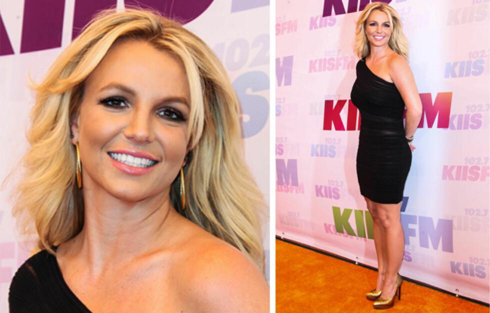 FLOTTE FORMER: Britney Spears har tatt greop både når det kommer til trening og kosthold. 31-åringen trives godt med sin nårværende vekt og fasong, men innrømmer at det krever hardt arbeid og streng disiplin. Foto: All Over Press