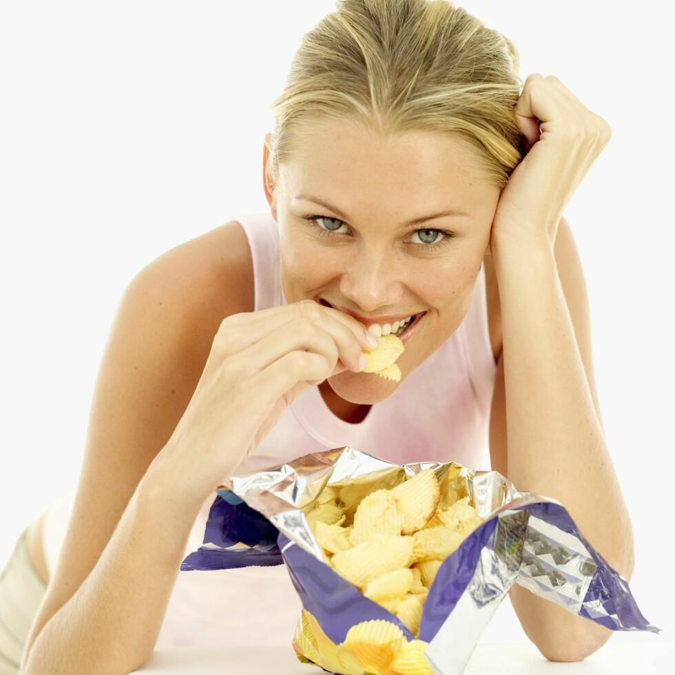 <strong>MEN DET ER JO SÅ GODT:</strong> Jada, potetgull er digg, men for mye av et er ikke så veldig bra. Foto: Thinkstock