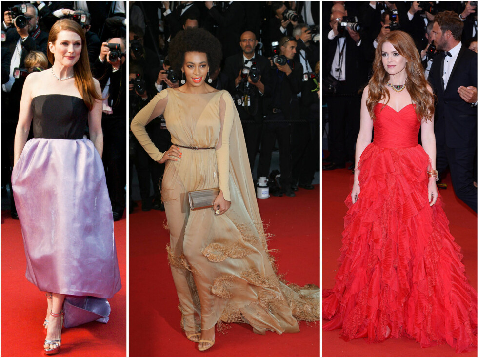 Julianne Moore, Solange Knowles og Isla Fisher gjorde ikke skam på den røde løper. Foto: All Over Press