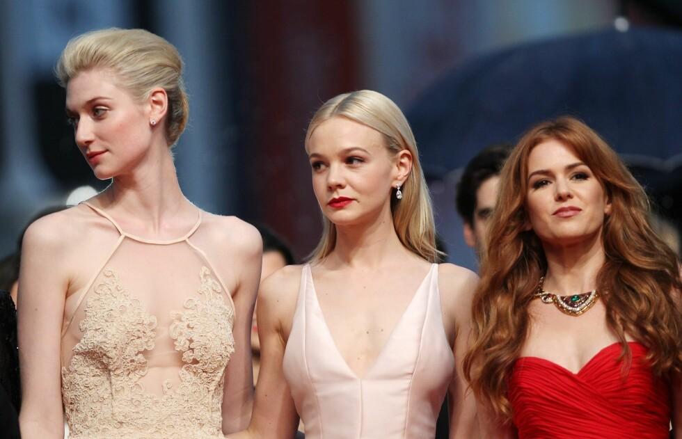 <strong>CANNES VAKRESTE:</strong> Skuespillerne fra The Great Gatsby; Elizabeth Debicki, Carey Mulligan og Isla Fisher.  Foto: All Over Press