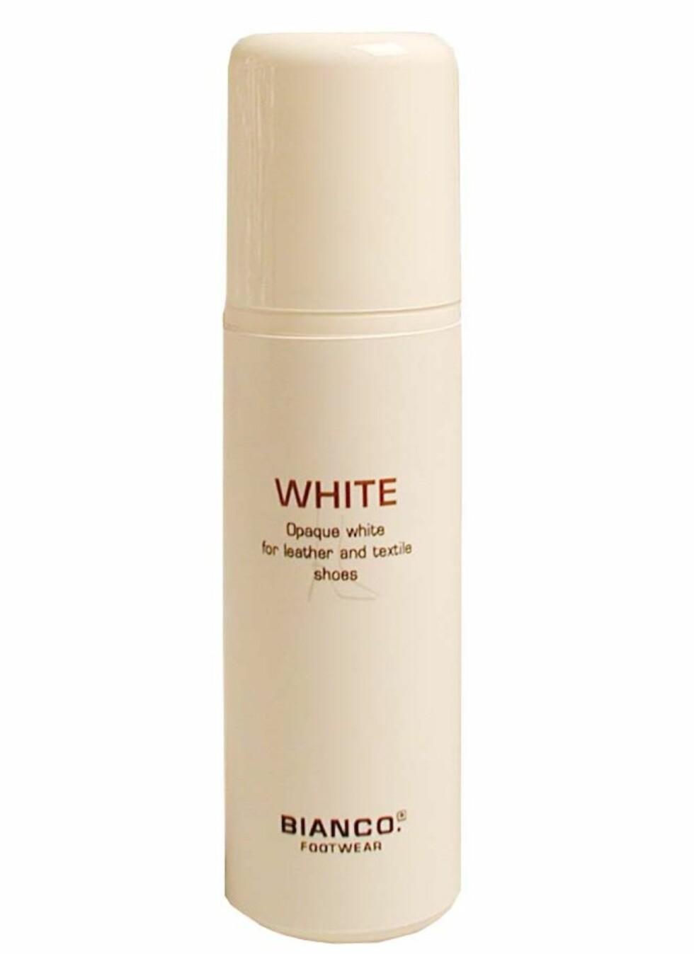 Det finnes egne produkter for å friske opp den hvite fargen på skinn og tekstiler. Bianco White skal påføres i et tynt lag på hele yttersiden av skoen, tørke i 15 minutter før man polerer. Tekstil skal derimot ikke poleres). Produktet skal dekke flekker, gjenoppfriske fargen og beskytte den hvite overflaten.
