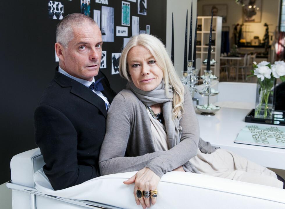 SUKSESS: Den danske designerduoen Gitte Dyrberg og Henning Kern står bak det suksessfulle smykkemerket Dyrberg/Kern.  Foto: Per Ervland