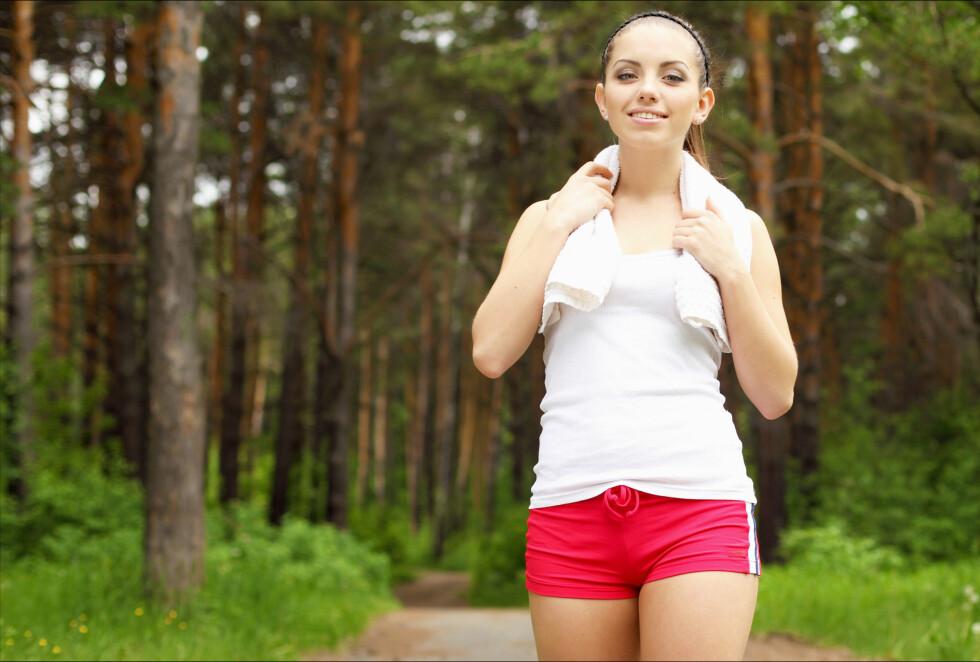 MOSJON: Et svært viktig grep for å holde deg ung. Faktisk har studier vist at bare 15 minutter kan forlenge livet med tre år.  Foto: Colourbox.com