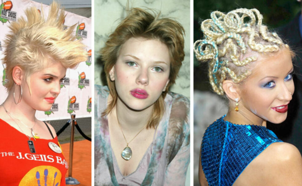 IKKE BRA: Kelly Osbourne, Scarlett Johansson og Christina Aguilera. Foto: All Over Press