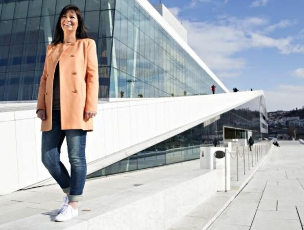 SPREK DAME: Siden juni i fjor har Ann-Christin gått to mil hver dag. Noe som tilsvarer tur-retur hjembygda Tornes -Oslo. Foto: Charlotte Wiig