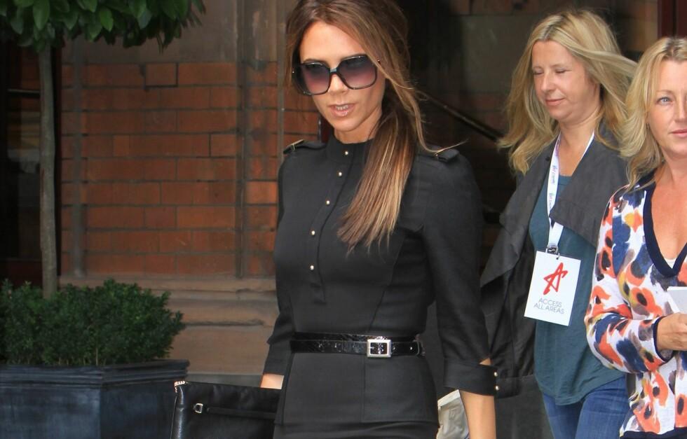 SMAL: Victoria Beckham er kjent for sin supersmale midje. Hvordan får hun det til? Foto: All Over Press