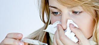 Er det influensa eller forkjølelse?