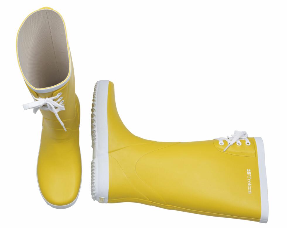 Disse modellene kommer til høsten og vil ligge på 550 kroner og oppover. I dag kan du finne Tretorn-støvlene hos Grensen i Oslo, på Heppo.no, Brandos.no og Smartguy.no. Foto: Produsenten