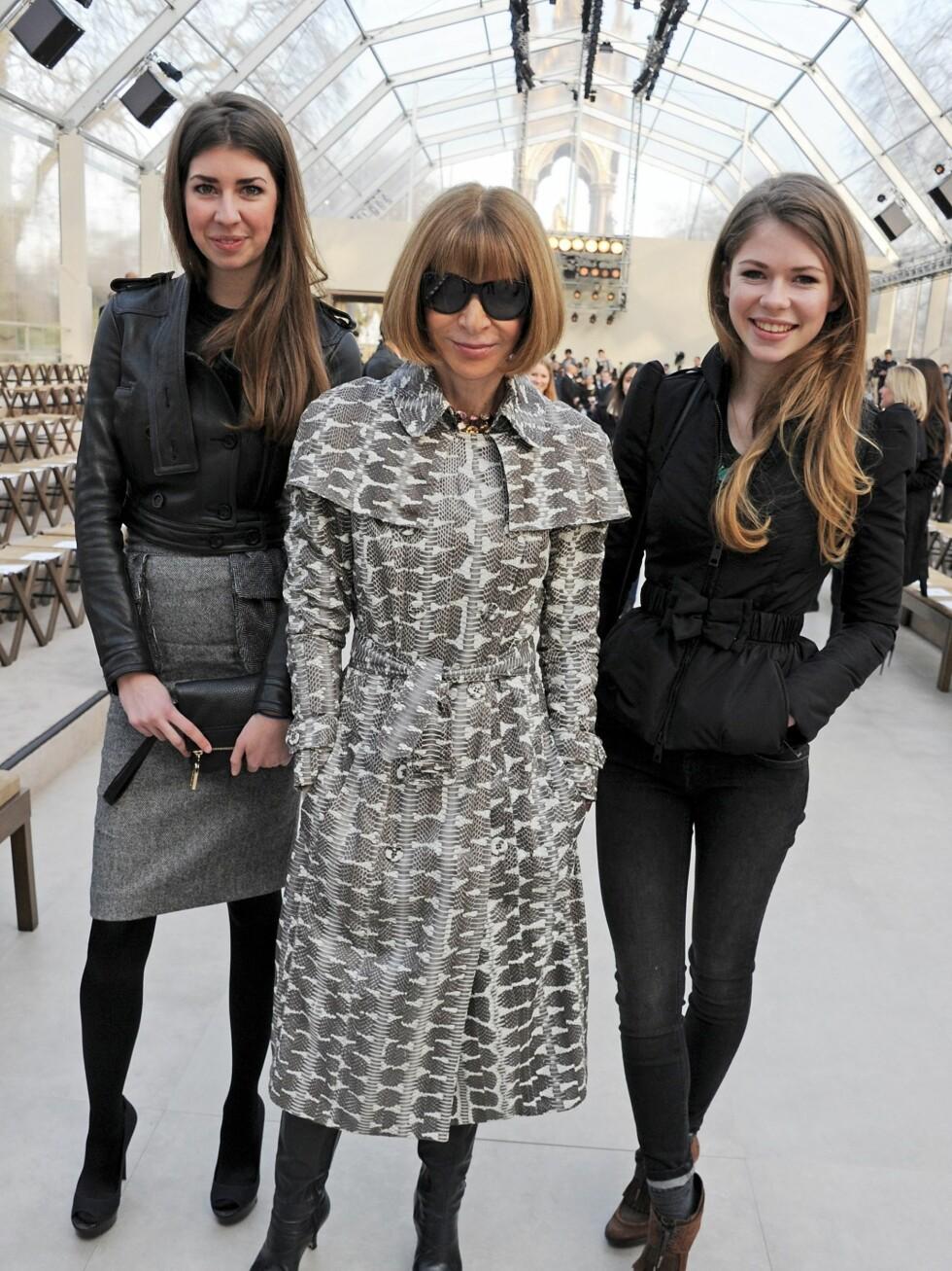 Anna Wintour og datteren Elie.  Foto: All Over Press